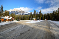 Castle Mountain Gas Station in Banff National Park