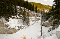 Canyon Creek in the Winter, Bottom Horse Cliff