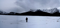 Spray Lakes in the winter